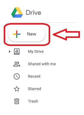 Google drive add new