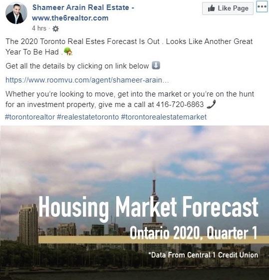market report Facebook post