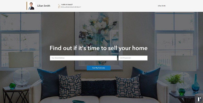 home evaluation landing page