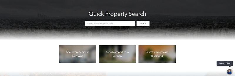 property search form