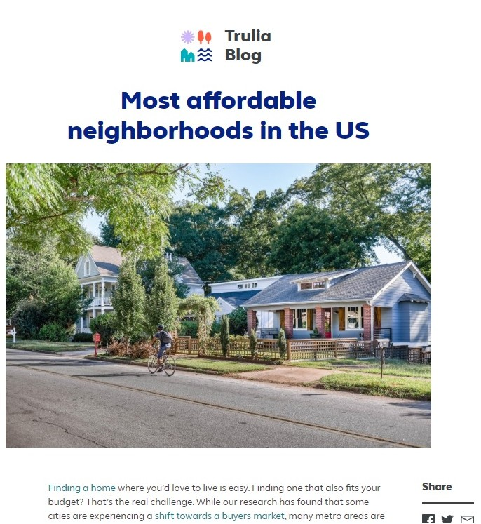 Most Affordable Neighborhoods in the US