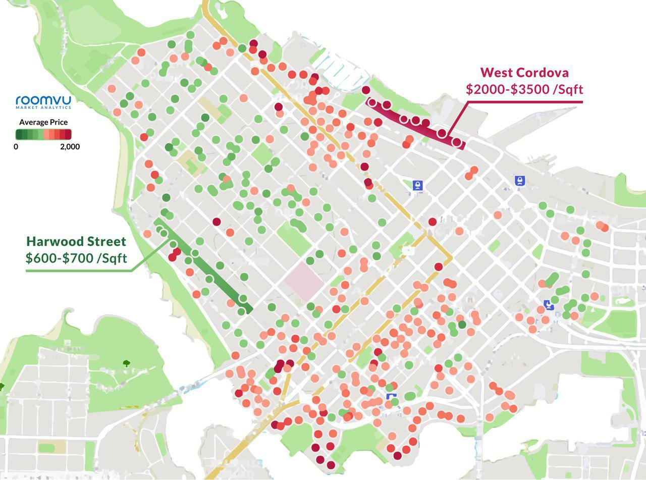 Downtown Vancouver Apartments Average SOLD Price per ...